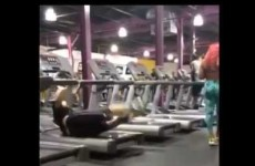 Guy falls off treadmill, recovers in the smoothest way possible