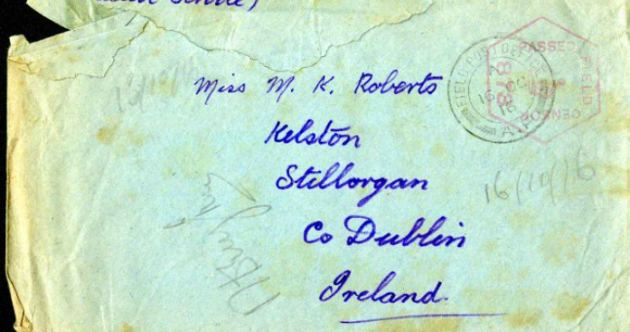 Thank you for the 40 pairs of socks: the Irish care packages of WWI