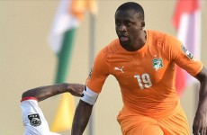 Injury scare for Manchester City as Yaya limped off last night in Africa Cup Of Nations