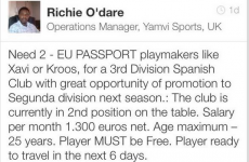 Agent uses Linkedin to find 'playmakers like Xavi or Kroos'