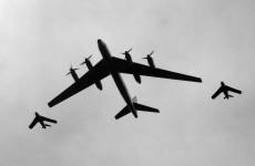 Russian bomber airplanes flew past the west coast of Ireland