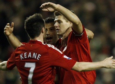 Gerrard and Keane previously played together at Liverpool.