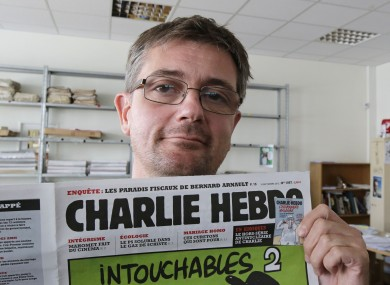 Editor, Stéphane Charbonnier (Charb), died in the attack.