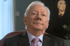 Gay Byrne does NOT look impressed with Stephen Fry talking about an 'evil God'