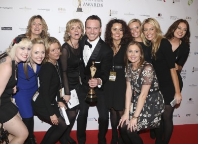 Kerry actor Michael Fassbender with his Best Supporting Actor award at last year's IFTAs.