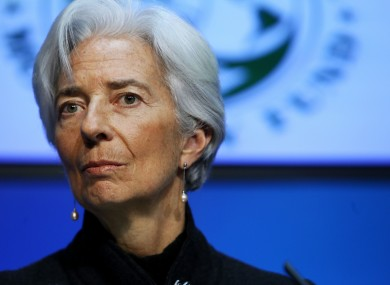 Managing Director of the International Monetary Fund, Christine Lagarde.