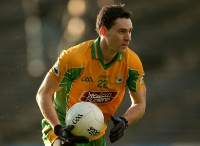 Corofin's Michael Farragher hit a key late point today for GMIT.