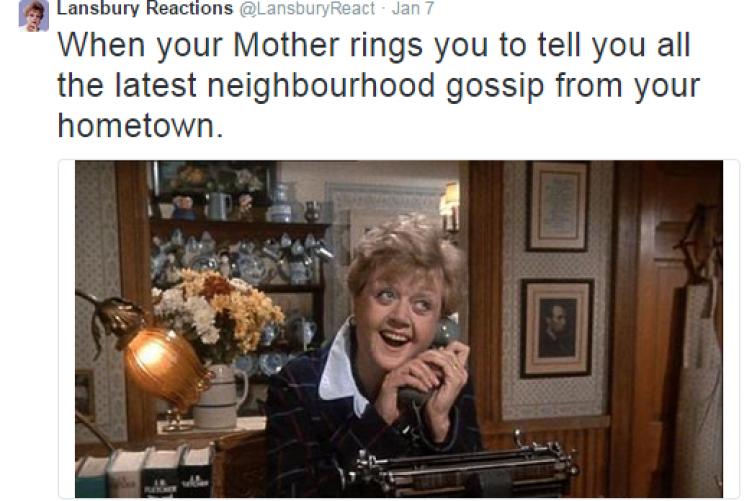 Angela Lansbury reacts