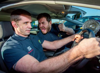 Quinlan and Love/Hate's Laurence Kinlan are ambassadors for Topaz's efficient fuel campaign.