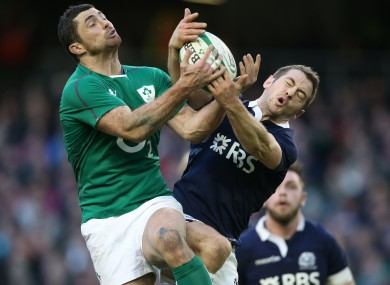 Greig Laidlaw [right] captains Scotland for the Six Nations.