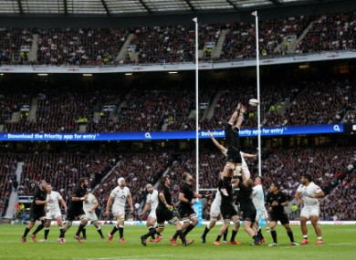 File photo of a lineout.