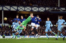 City's title challenge suffers a setback as they're held by Everton