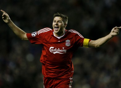 Gerrard scored 120 goals in 504 appearances for Liverpool.