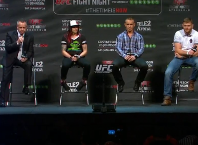 (L-R): Dave Allen, Joanne Calderwood, Jan Blachowicz and Nick Hein at Friday's announcement in Stockholm.