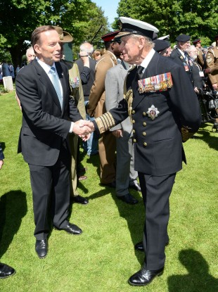 Abbott and Prince Philip pictured last month.