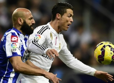 Ronaldo has suffered with injuries this season.