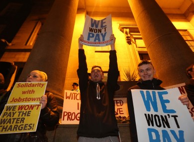 A protest against the arrests was held outside the Department of Justice last week.