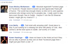 Dublin hotel offer Ed Sheeran tickets for 5-star reviews, to beat the backlash