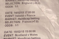 The excruciating randomness of gambling on rugby summed up in one betting slip