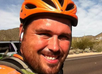 Earley has been cycling around the world for the past year.