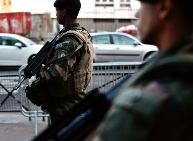 File photo of French soldiers on patrol in Paris.