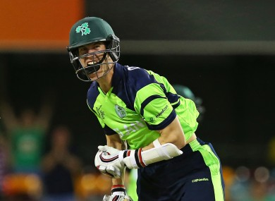 George Dockrell hit the winning runs in Brisbane yesterday.