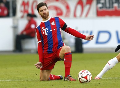 Xabi Alonso was harshly sent off.
