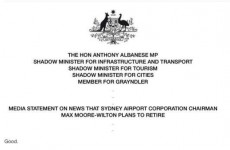 This politician's one-word press release might just be the best ever