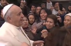 Pope Francis stops by a shanty town for a surprise visit and the people love it