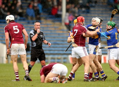 Temper flare in the second-half between Galway and Tipperary.