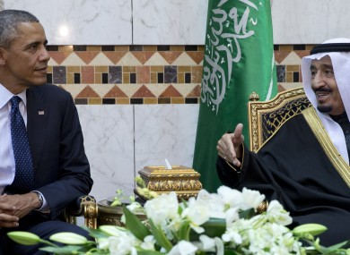 President Barack Obama meets with King Salman.