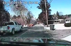 Dashboard cam captures gas explosion in suburban street