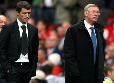 Keane and Ferguson fell out during the end of the former's time at Man United.