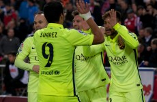 Luis Suarez scores twice on his return to England… but Messi proves he's human