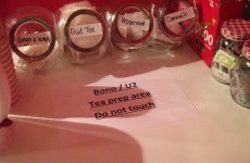U2 didn't show up to the Choice Music Prize, but there was tea ready for them anyway