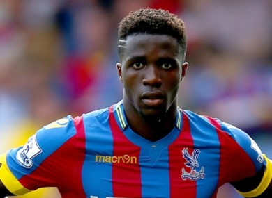 Zaha returned to Palace following an unsuccessful spell at Old Trafford.