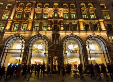 The Apple Store on Regent St, London
