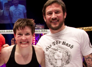 UFC fighter Aisling Daly and coach John Kavanagh.