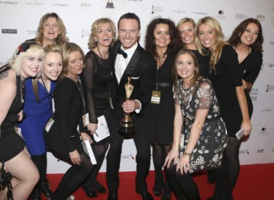 Michael Fassbender pictured with award at last year's ceremony.