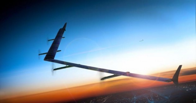 Facebook is building a fleet of internet-connected super-drones