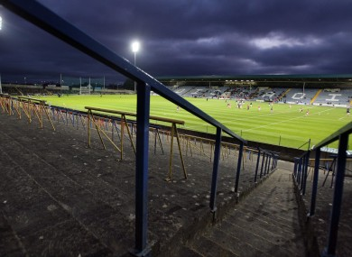 O'Moore Park was the setting for tonight's clash.