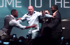 Jon Jones and Anthony Johnson prank UFC president Dana White with fake brawl
