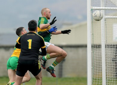 Barry John Keane grabs Kerry's first goal of the game today.