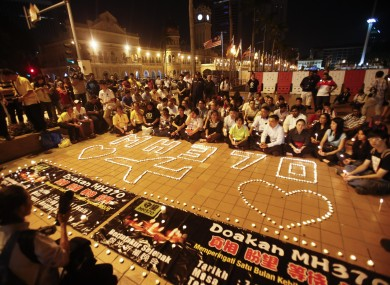 A candlelit vigil in Kuala Lumpur last April.