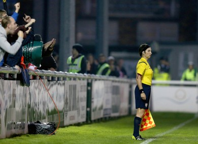 O'Neill officiating in the SSE Airtricity League last season.