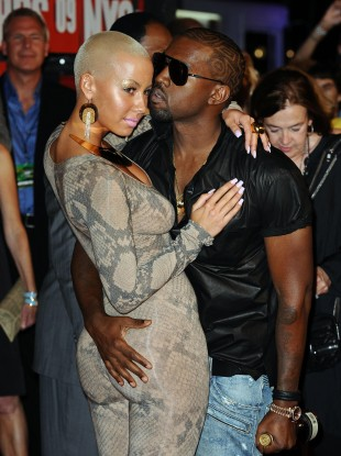 Amber Rose and Kanye West pictured in 2009.