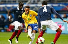 Neymar lashes one past France in repeat of the '98 World Cup final