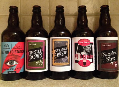 Five Towns Brewery bottles.