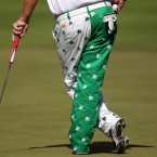 John Daly of the U.S. waits for his turn to putt on the 10th green during the second round of the Puerto Rico Open PGA golf tournament in Rio Grande.<span class=