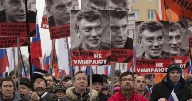 'He died for Russia's future': Tens of thousands march to honour Boris Nemtsov